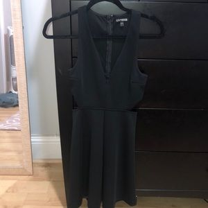 Sexy black dress from express worn once!